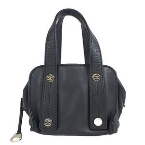 Auth Chanel Leather Handbag Black al344