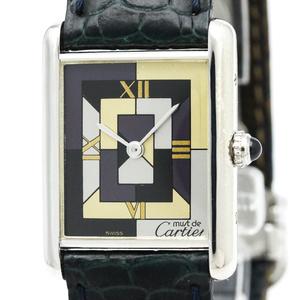 カルティエ(Cartier) マストタンク クォーツ ステンレススチール(SS) レディース ドレスウォッチ W1008095
