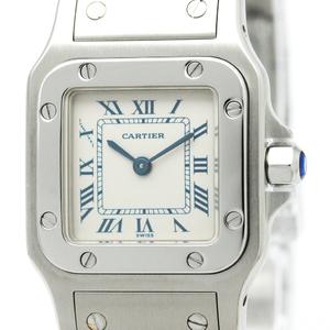 【CARTIER】カルティエ サントス ガルべ SM ステンレススチール クォーツ レディース 時計 W20056D6