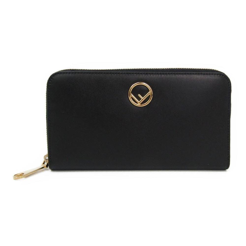 フェンディ(Fendi) 8M0299 レディース  カーフスキン 長財布(二つ折り) ブラック