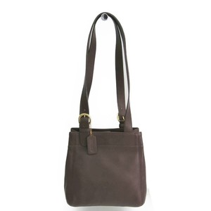 Coach 4157 Unisex Leather Shoulder Bag Dark Brown