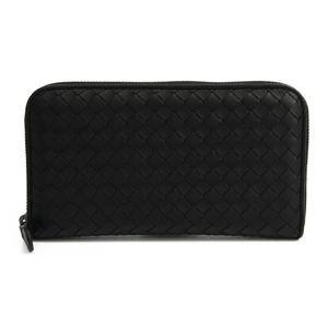 ボッテガ・ヴェネタ(Bottega Veneta) イントレチャート 114076 レザー 長財布(二つ折り) ブラック