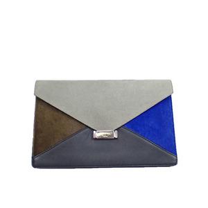 Auth Celine Clutch Bag Black,Blue,Brown,Gray al425