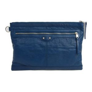 Balenciaga 273023 Leather Clutch Bag Blue