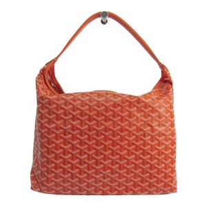 Goyard Fidji Women's Leather Canvas Shoulder Bag Orange