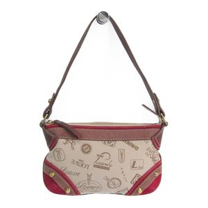 Loewe 160th Anniversary Women's Canvas Leather Handbag Brown,Ivory,Red
