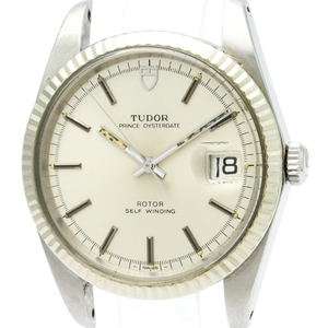 Tudor Prince Oyster Date Automatic Stainless Steel,White Gold Men's Dress Watch 75304