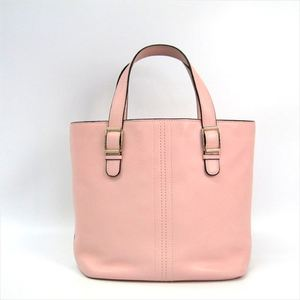 Valextra Women's Leather Tote Bag Light Pink