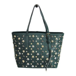 Jimmy Choo Sasha S Leather Tote Bag Green