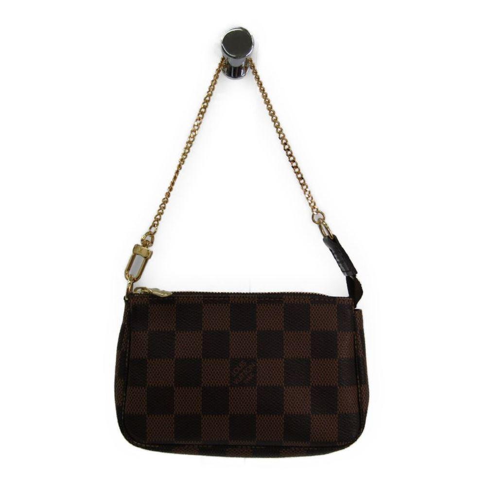 Louis Vuitton Damier Mini Pochette Accessoires N58009 Women's Handbag Ebene