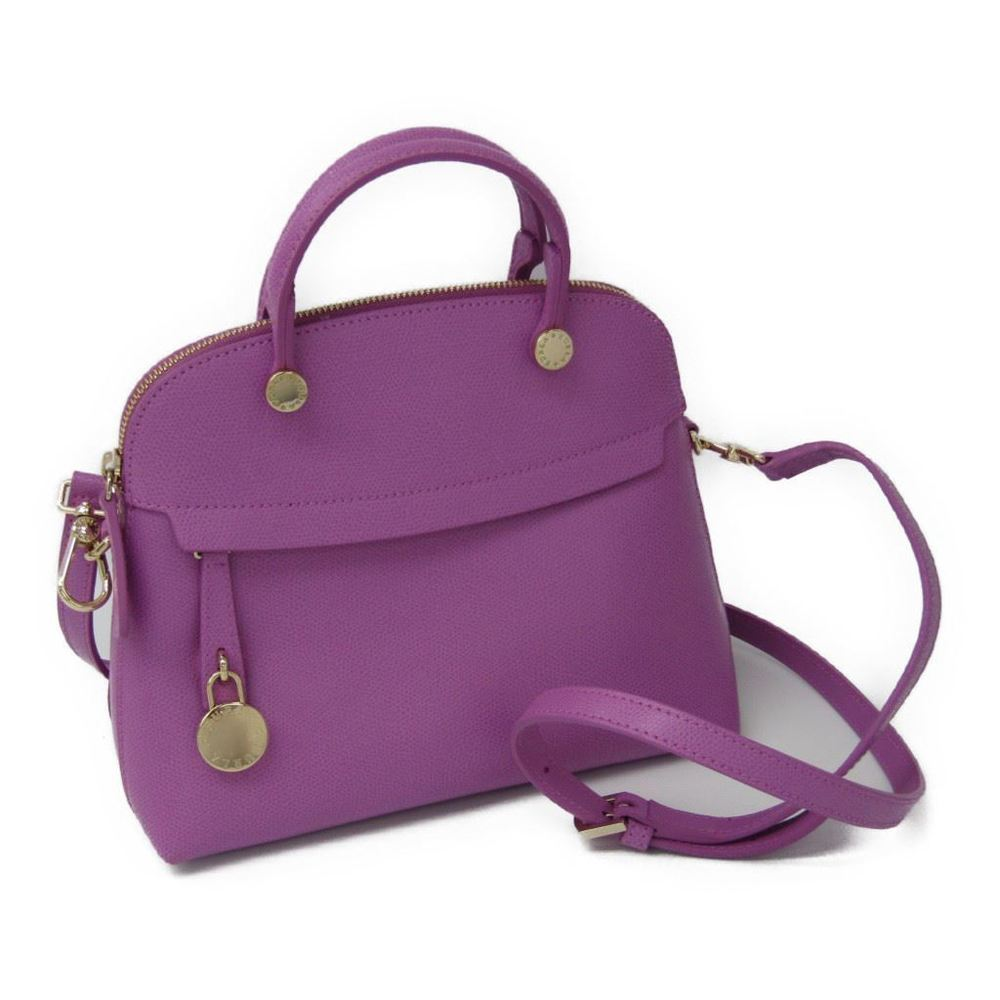 Furla Piper S Women's Leather Handbag Light Purple