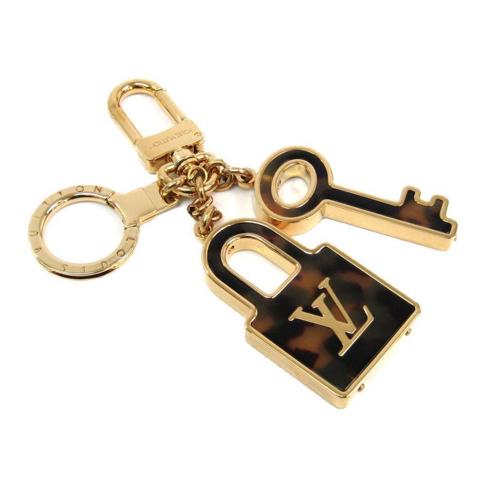 Louis Vuitton Keyring (Gold,Brown) Confiance Key Holder M65088