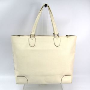 Valextra Leather Tote Bag White