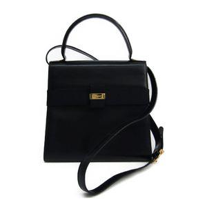 Salvatore Ferragamo L21 5301 Women's Leather Handbag Navy