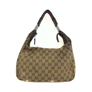 グッチ(Gucci) GGキャンバス ワンショルダーバック  One Shoulder bag 145757 レディース GGキャンバス ショルダーバッグ ベージュブラウン
