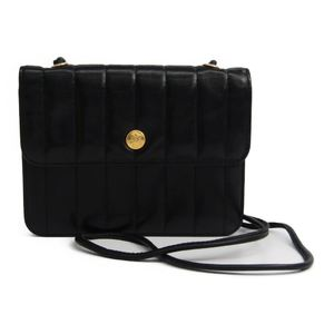 Fendi Leather Shoulder Bag Black