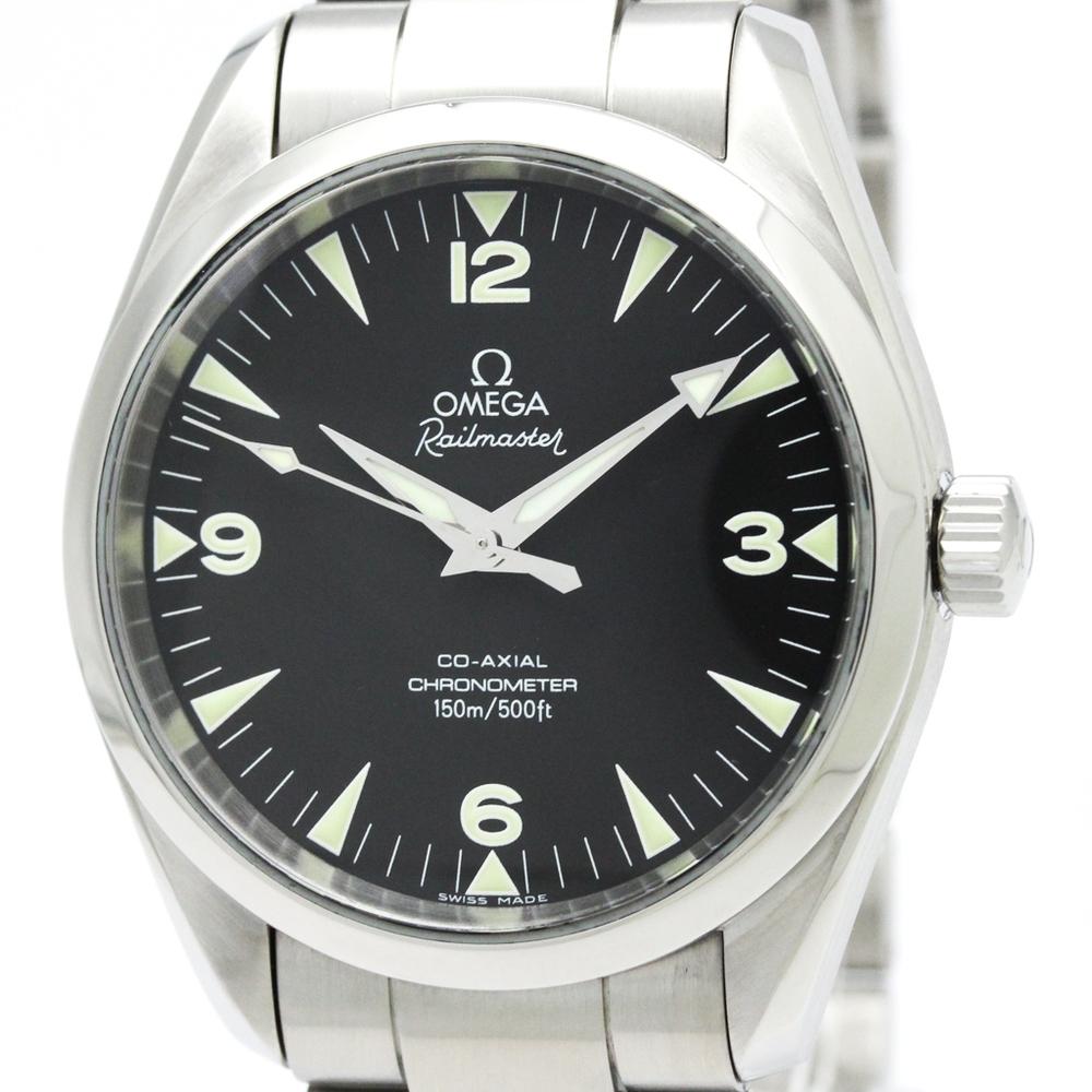 【OMEGA】オメガ シーマスター レイルマスター コーアクシャル ステンレススチール 自動巻き メンズ 時計 2503.52