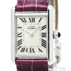 Cartier Must Tank Quartz Stainless Steel Women's Dress Watch W1016230