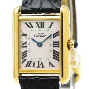 Cartier Must Tank Quartz Gold Plated Women's Dress Watch W1018687