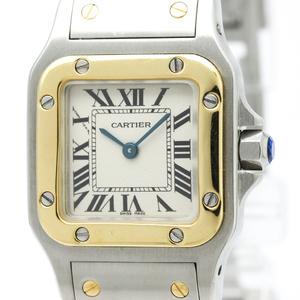 Cartier Santos Galbee Quartz Stainless Steel,Yellow Gold (18K) Women's Dress Watch W20012C4