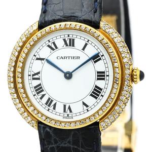 Cartier Mechanical Yellow Gold (18K) Men's Dress Watch