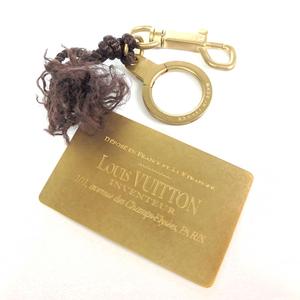Auth Louis Vuitton Keyring (Gold) Metal plate al598
