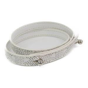 Goyard Leather,Canvas Bracelet White TAKASHIMAYA Limited