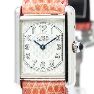 Cartier Must Tank Quartz Stainless Steel Women's Dress Watch W1014254