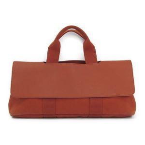 Hermes Valparaiso Long MM Women's Canvas Leather Handbag Orange