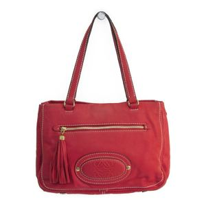 Loewe 322.75.005 Women's Leather Tote Bag Red