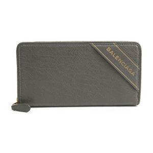 バレンシアガ(Balenciaga) ブランケット 466544 レディース レザー 長財布(二つ折り) グレー