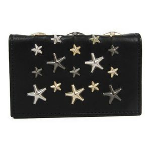 Jimmy Choo Leather Business Card Case Black NELLO J000053488001