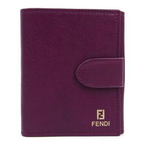 フェンディ(Fendi) 8M0188 レディース レザー 財布(二つ折り) パープル