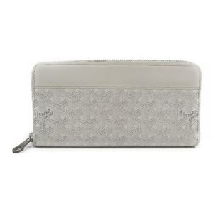 Goyard Matignon Leather,Canvas Long Wallet (bi-fold) White