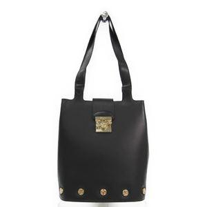 Salvatore Ferragamo DQ-21 7189 Women's Leather Shoulder Bag Black