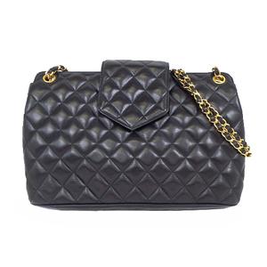 Chanel Matelasse Chain Shoulder Bag チェーンショルダー Leather Shoulder Bag Black