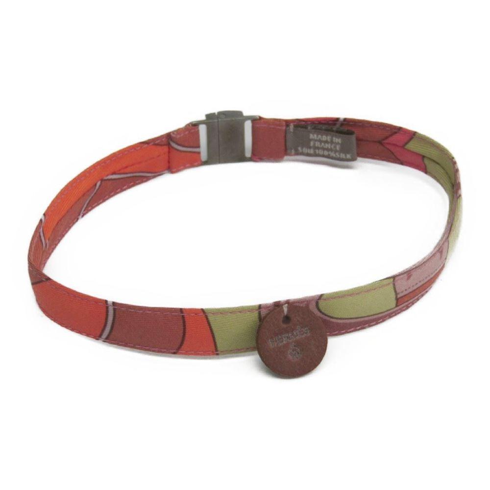 Hermes Women's Choker Necklace (Multi-color,Orange) Petit H