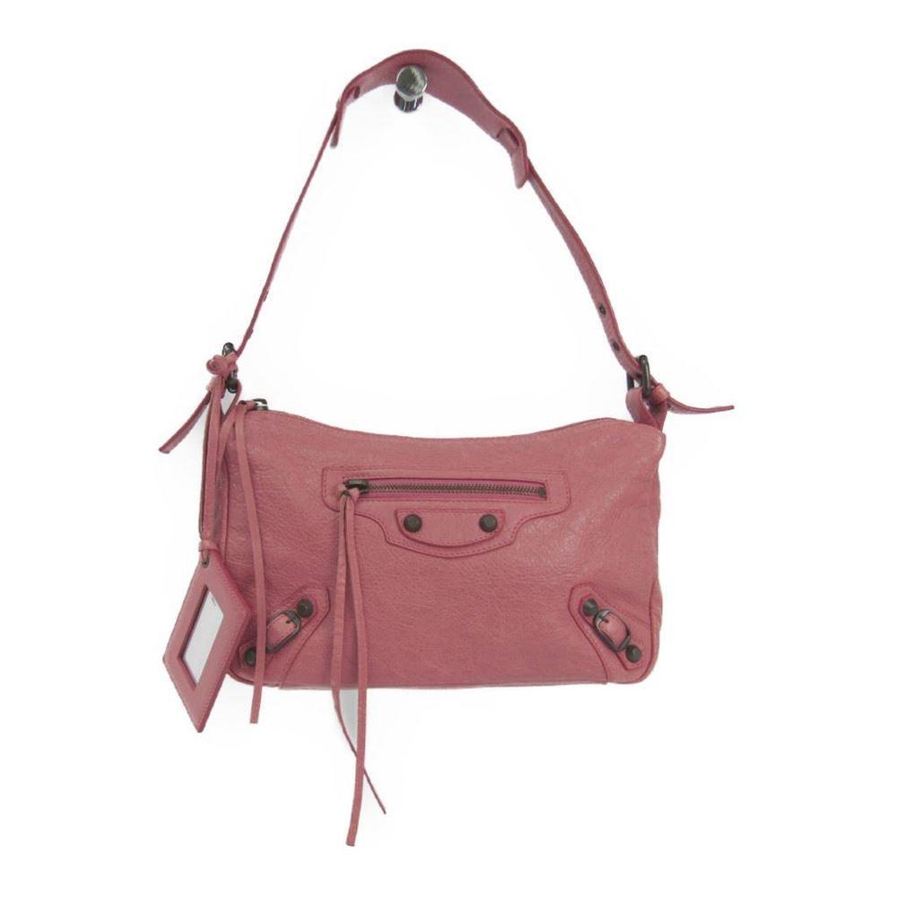 バレンシアガ(Balenciaga) ザ・ゲッタウェイ 309935 レザー ショルダーバッグ ピンク