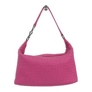 Bottega Veneta Intrecciato Women's Leather Shoulder Bag Pink