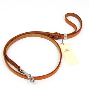 Hermes Dog Leash Leather Natural
