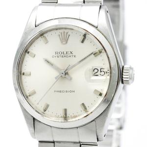 【ROLEX】ロレックス オイスター デイト プレシジョン 6466 ステンレススチール 手巻き ボーイズ 時計