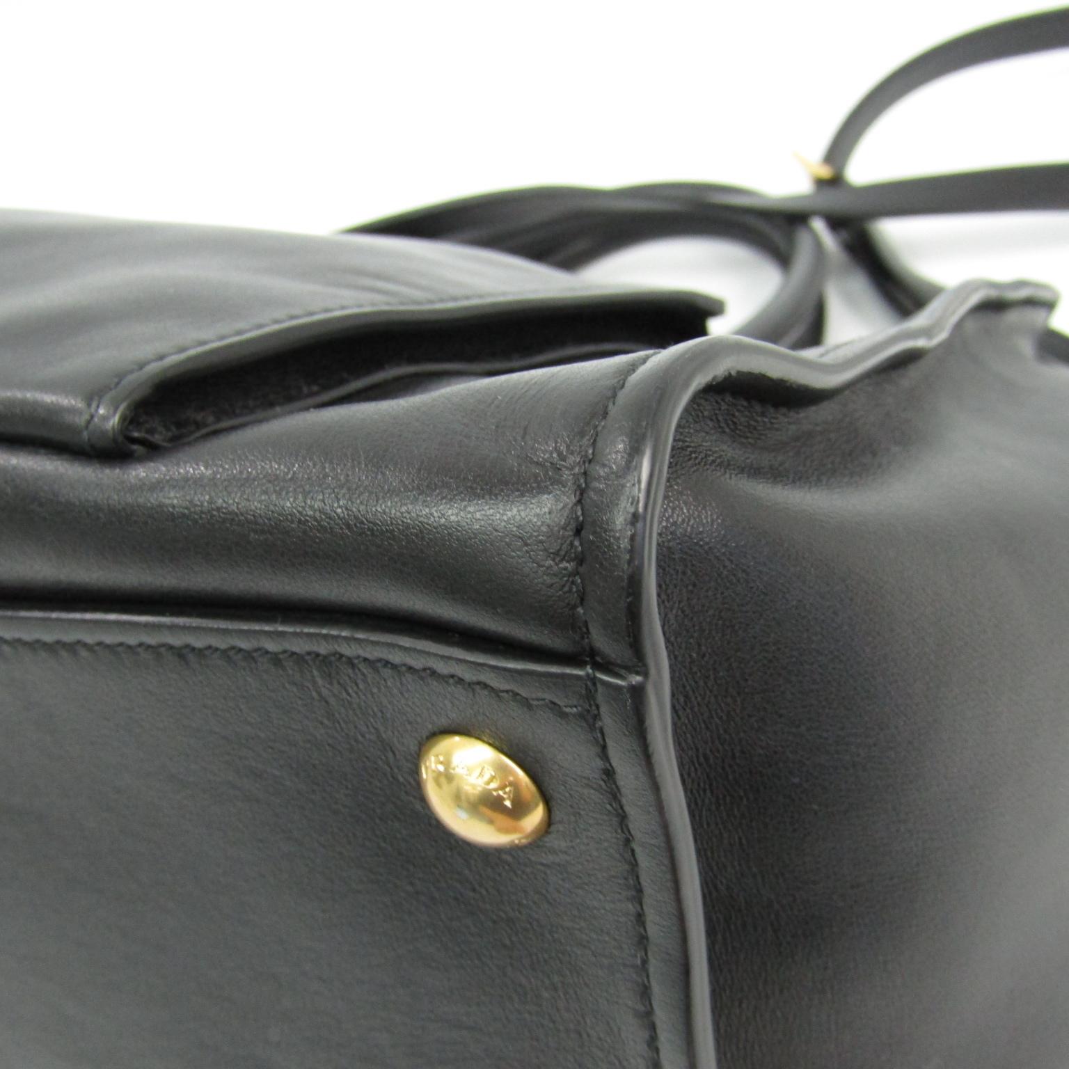 Details zu Prada BN2626 Damen Leder Handtasche Schwarz BF321744