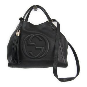 グッチ(Gucci) ソーホー 336751 レディース レザー ハンドバッグ ブラック