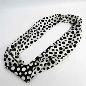Louis Vuitton Women's Silk Infinity Scarf White,Black Dot Infinity