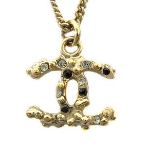 シャネル(Chanel)   ココマーク ラインストーン ネックレス