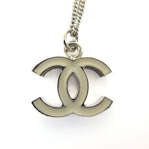 シャネル(Chanel) ホワイト ココマーク ネックレス
