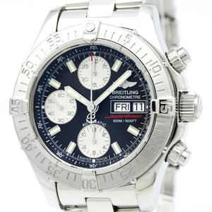 【BREITLING】ブライトリング クロノ スーパーオーシャン ステンレススチール 自動巻き メンズ 時計 A13340