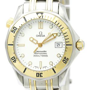 Omega Seamaster Quartz Stainless Steel,Yellow Gold (18K) Men's Sports Watch