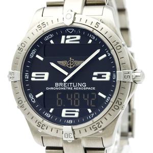 ブライトリング(Breitling) エアロスペース クォーツ チタン メンズ スポーツウォッチ E75362