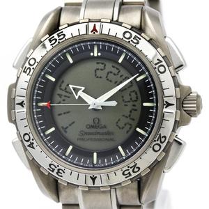 【OMEGA】オメガ スピードマスター X-33 アナログ デジタル チタン クォーツ メンズ 時計 3290.50